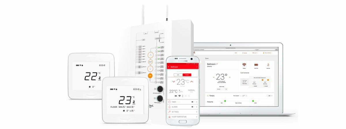 Lattilämmitys uudisrakennukseen - SmartHeat termostaattijärjestelmä
