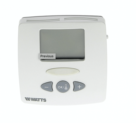 Huonetermostaatti WATTS digit 230V