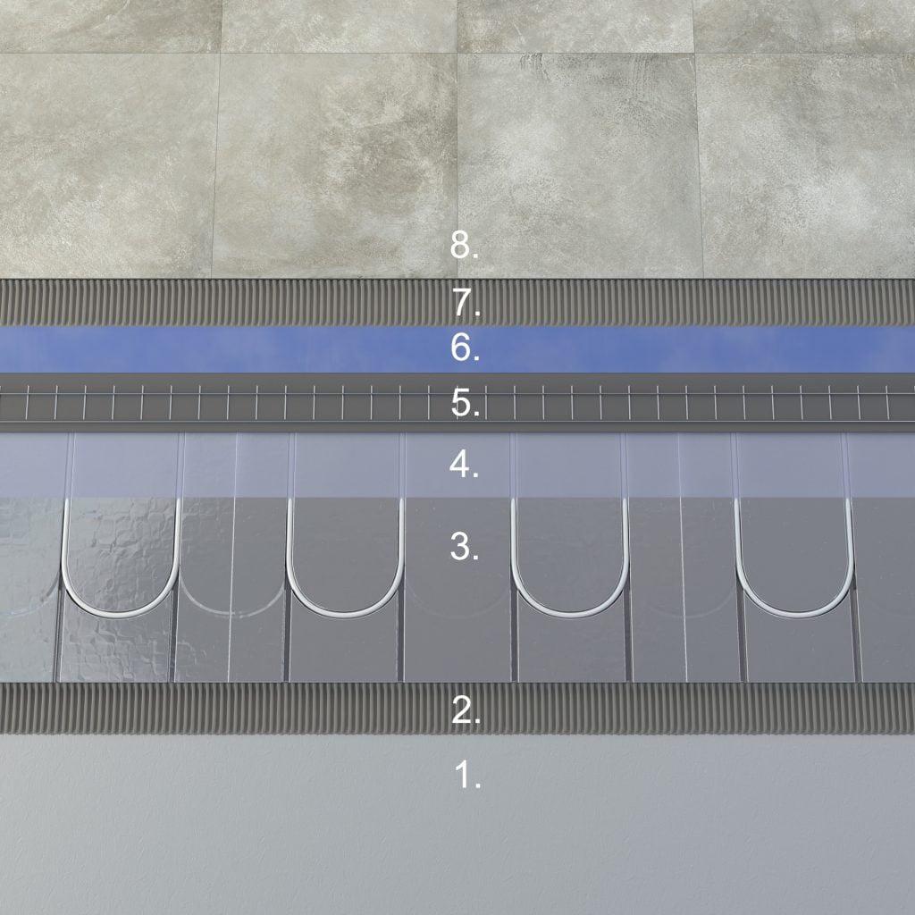 Floore lattiarakenne kosteat tilat