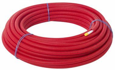 Käyttövesiputki suojaputkessa punainen